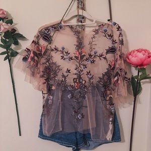 Floral See-Through Overlay